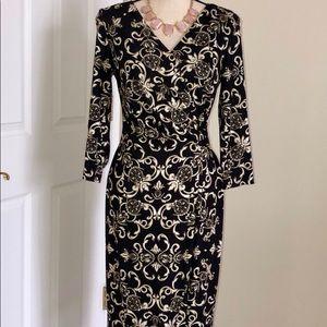 🌺 Escada wrap dress size 36 v-neck long sleeve